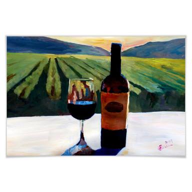 Poster Bleichner - Wein in Napa Valley