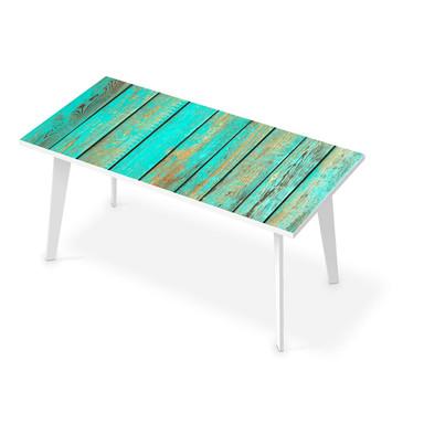 Tischfolie - Wooden Aqua