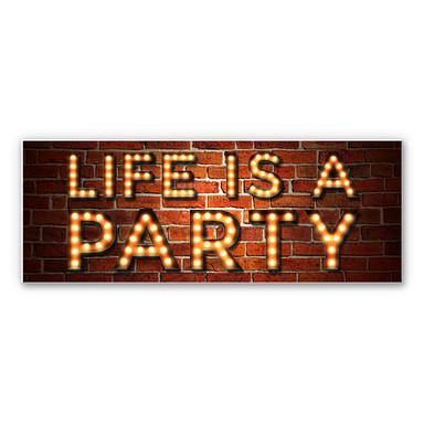 Wandbild Life is a Party 02 - Panorama