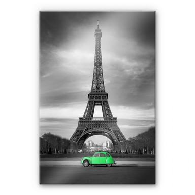Acrylglasbild La Vie est Belle - grün