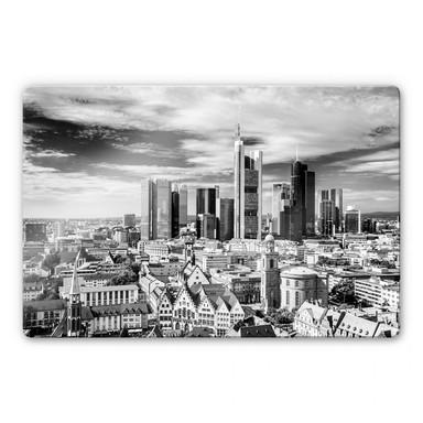 Glasbild Frankfurter Skyline