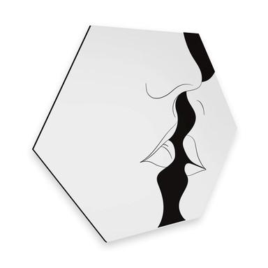 Hexagon - Alu-Dibond Nordic Creators - White Kiss