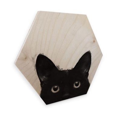 Hexagon - Holz Birke-Furnier Graves - Are you awake yet