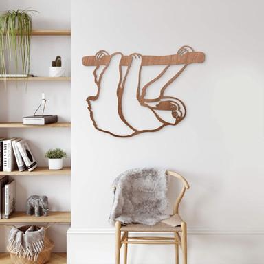 Holzkunst Mahagoni - Faultier
