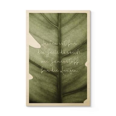 Holzposter Lachen ist für die Seele