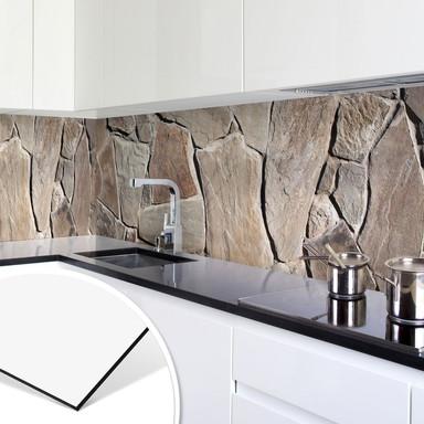 Küchenrückwand - Alu-Dibond - Mediterrane Mauer