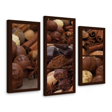 Leinwandbild Schokoladentraum 03 (3-teilig)