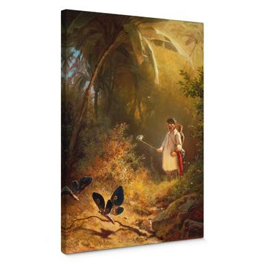 Leinwandbild Spitzweg - Der Schmetterlingsfänger