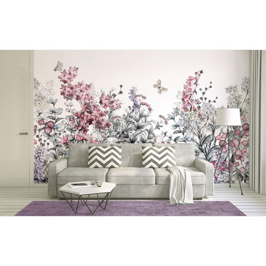 Livingwalls Fototapete Designwalls Flower Painting Blumen - Bild 1