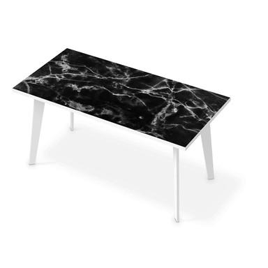 Tischfolie - Marmor schwarz