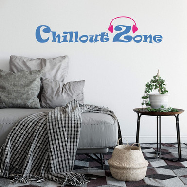 Wandtattoo Chillout Zone 6 (2-farbig)