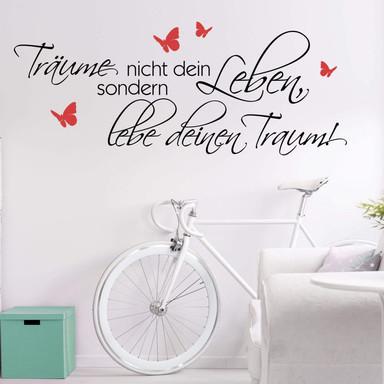 Wandtattoo Träume nicht dein Leben... 5 (2-farbig) - Bild 1