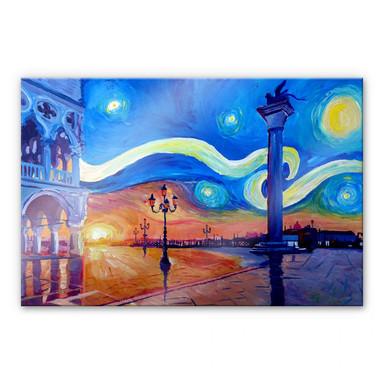 Acrylglasbild Bleichner - Venedig bei Nacht
