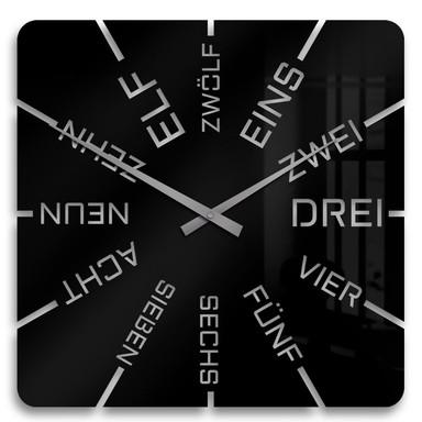 Acrylglasbild Clock Uhr
