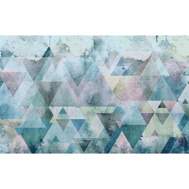 Fototapete Triangles Blue