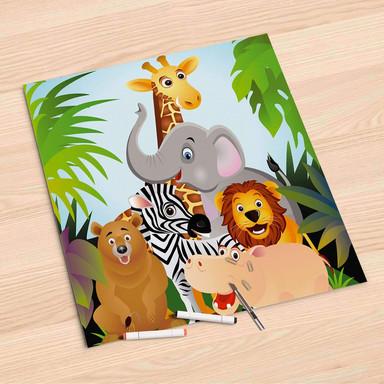 Folienbogen (60x60cm) - Wild Animals