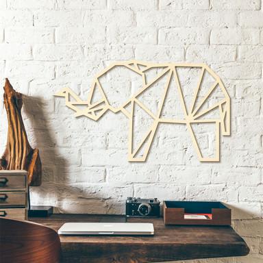 Holzkunst Pappel - Origami Elefant