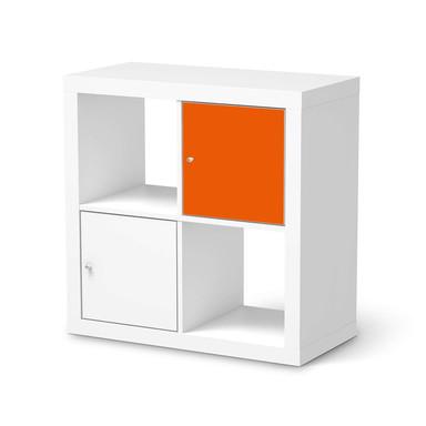 Klebefolie IKEA Expedit Regal Tür einzeln - Orange Dark- Bild 1
