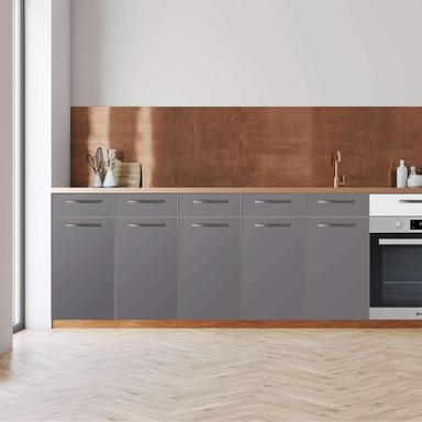 Küchenfolie - Unterschrank 200cm Breite - Grau Light