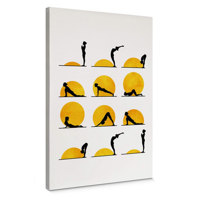 Leinwandbild Kubistika - Yoga Der Sonnengruss