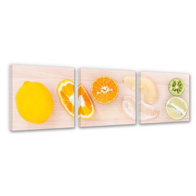 Leinwandbild Limonaden-Rezept (3-teilig)