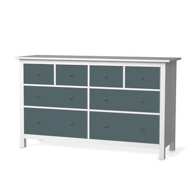 Möbelfolie IKEA Hemnes Kommode 8 Schubladen - Blaugrau Light