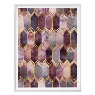 Poster Fredriksson - Glasmalerei: Rosé und Gold