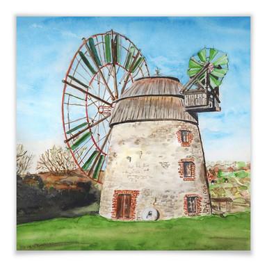 Poster Toetzke - Holländerwindmühle - quadratisch