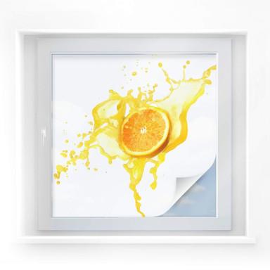 Sichtschutzfolie Splashing Oranges - quadratisch