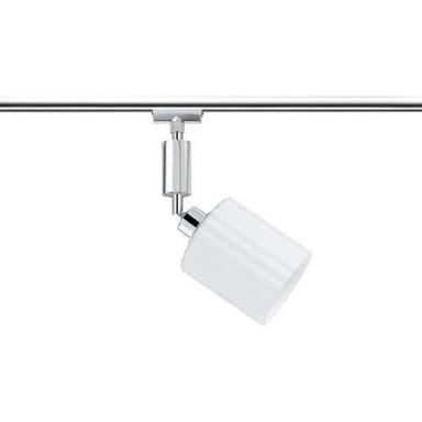 URail System Spot Zyli 1x3W LED Chrom/Weiss 230V/12V Metall/Glas
