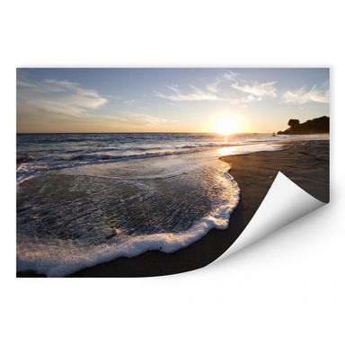 Wallprint Sonnenuntergang am Meer