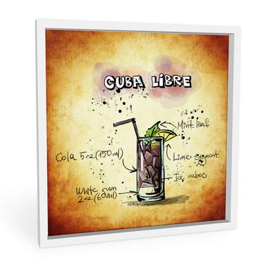 Wandbild Cuba Libre - Rezept