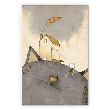 Wandbild Loske - Katzenhaus