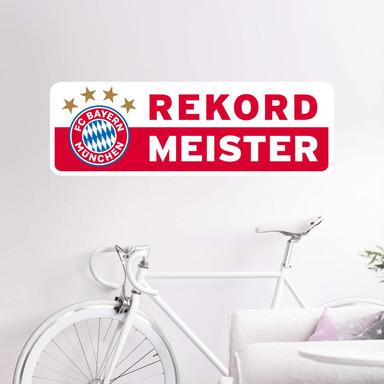 Wandsticker Rekordmeister Bayern München