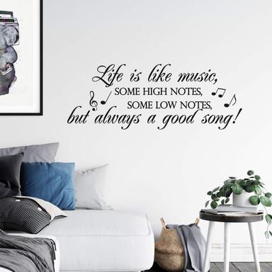 Wandtattoo Life is like music...