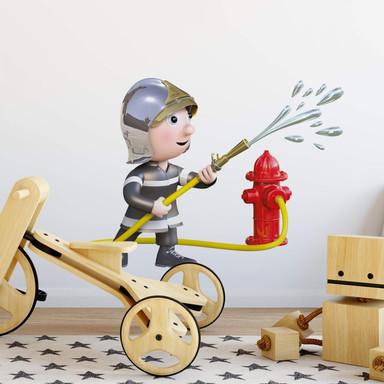 Wandtattoo Michel Agullo - Kleiner Feuerwehrmann