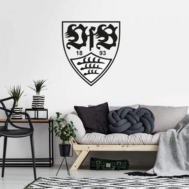 Wandtattoo VfB Stuttgart Logo einfarbig