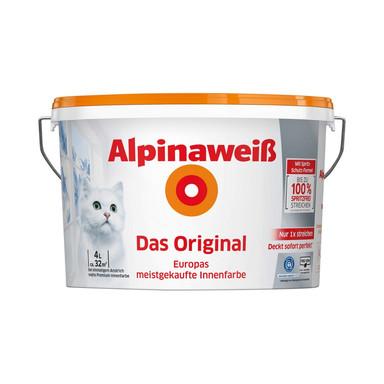 Alpinaweiss Das Original Wandfarbe - 4 Liter - Bild 1