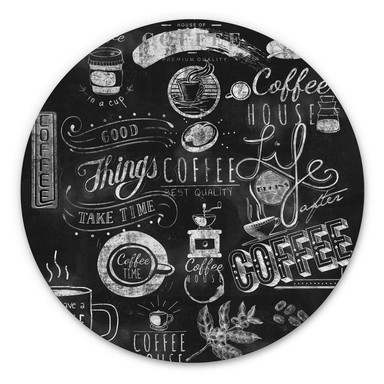 Alu-Dibond World of Coffee - Rund