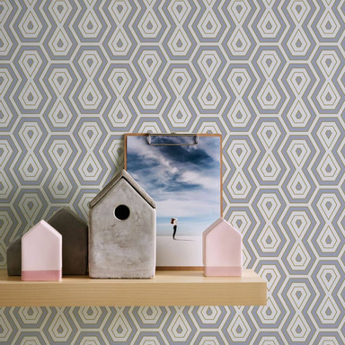 Architects Paper Vliestapete Jungle Chic Retrotapete geometrisch grau, gold, weiss