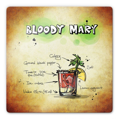 Glasbild Bloody Mary - Rezept