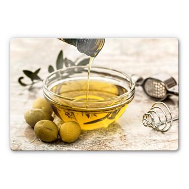 Glasbild Olivenöl