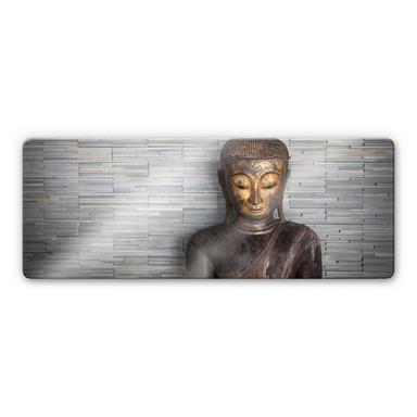 Glasbild Thailand Buddha - Panorama