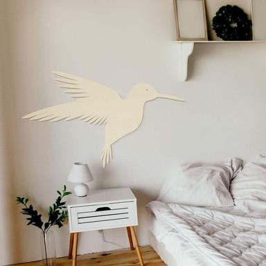 Holzkunst Pappel - Kolibri