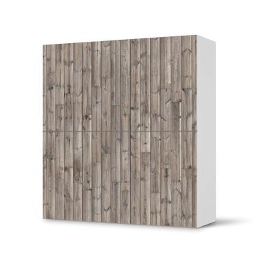 Klebefolie IKEA Besta Schrank 4 Türen - Dark washed- Bild 1