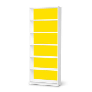 Klebefolie IKEA Billy Regal 6 Fächer - Gelb Dark- Bild 1
