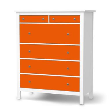 Klebefolie IKEA Hemnes Kommode 6 Schubladen - Orange Dark- Bild 1