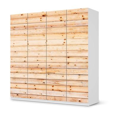Klebefolie IKEA Pax Schrank 201cm Höhe - 4 Türen - Bright Planks- Bild 1