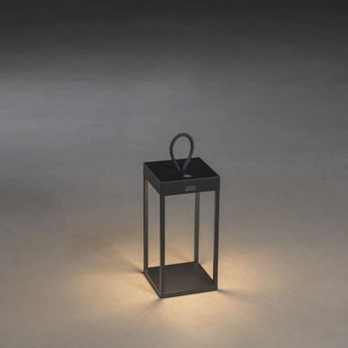 LED Akkuleuchte Ravello in Schwarz 2.2W 180lm IP54 300mm