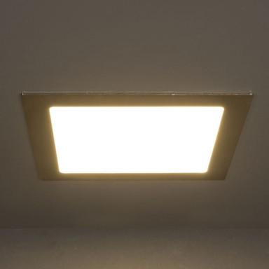 LED Panel 26W 1400lm 3000K in Nickel-satiniert 225x225mm eckig